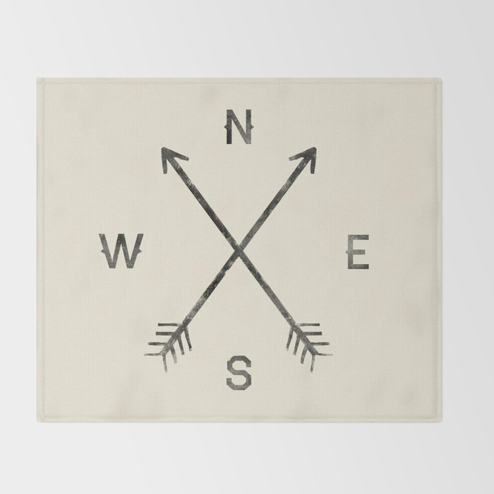 Compass (Natural) Throw Blanket