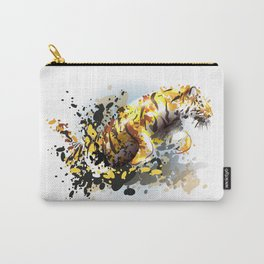 Abstract illustration of a leaping tiger Carry-All Pouch