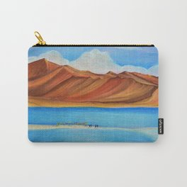 Pangong lake in pastel colours, Landscape painting. Carry-All Pouch