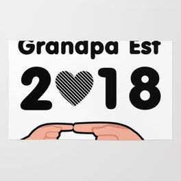 First Time Grandpa Est 2018 Rug