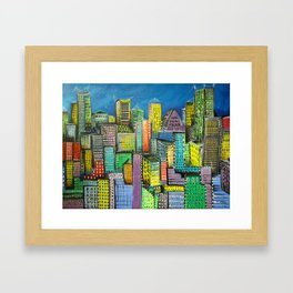 City unfolds Framed Art Print
