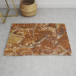 Abstract rusty background Rug