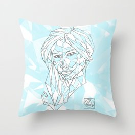 Diamant Bleu Throw Pillow