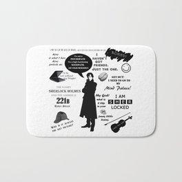 Sherlock Holmes Quotes Bath Mat