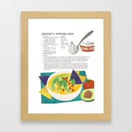 "Melissa's Tortilla Soup from ""The Soup Pot"" Framed Art Print"