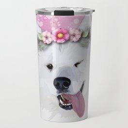 Pretty Samoyed Dog Travel Mug