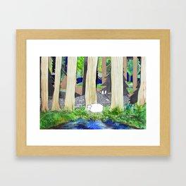 lost sheep Framed Art Print
