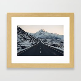 The road to Mt Cook Framed Art Print