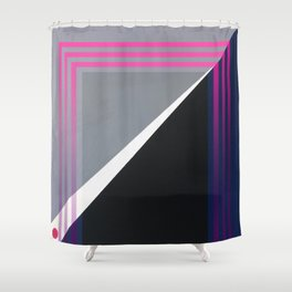 London - pink graphic Shower Curtain