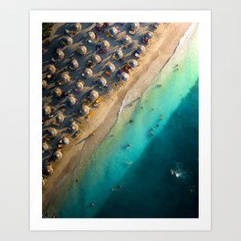 Calm day at the beach Art Print
