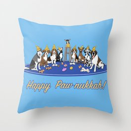 Happy Paw-nukkah! - Happy Hannukah Throw Pillow