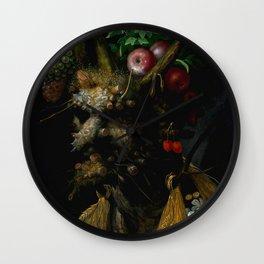 "Giuseppe Arcimboldo ""Four Seasons in One Head"" Wall Clock"
