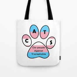 Cis-people Against Transphobia (CATS) Tote Bag