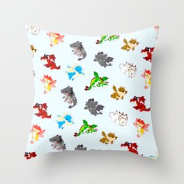 httyd pattern Throw Pillow
