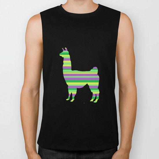 Llama Stripes Biker Tank