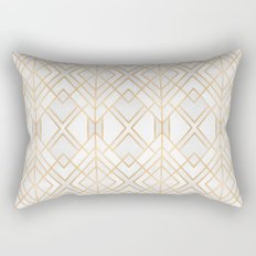 Golden Geo Rectangular Pillow