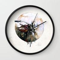 atlas Wall Clocks featuring Norton Atlas by istraille