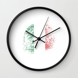It's In My Dna Italia Italian Flag Pride Vintage Gift Wall Clock