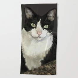 Cat Eightball Beach Towel