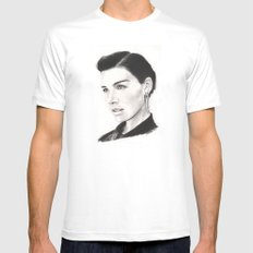 jessica paré...  mrs. draper comes to town. White Mens Fitted Tee MEDIUM
