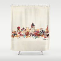utah Shower Curtains featuring salt lake city utah by bri.buckley