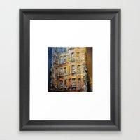 London facade Framed Art Print