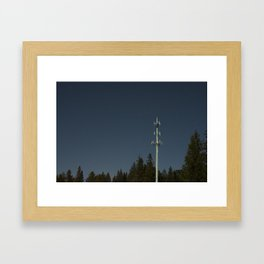 Transmissions in the dead of the night Framed Art Print