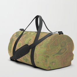 fluid golden green Duffle Bag