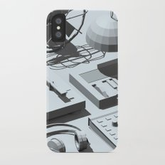 Low Poly Studio Objects 3D Illustration Grey Slim Case iPhone X