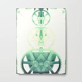 Oil the wheels Metal Print