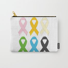 SIx Awareness Ribbons Carry-All Pouch