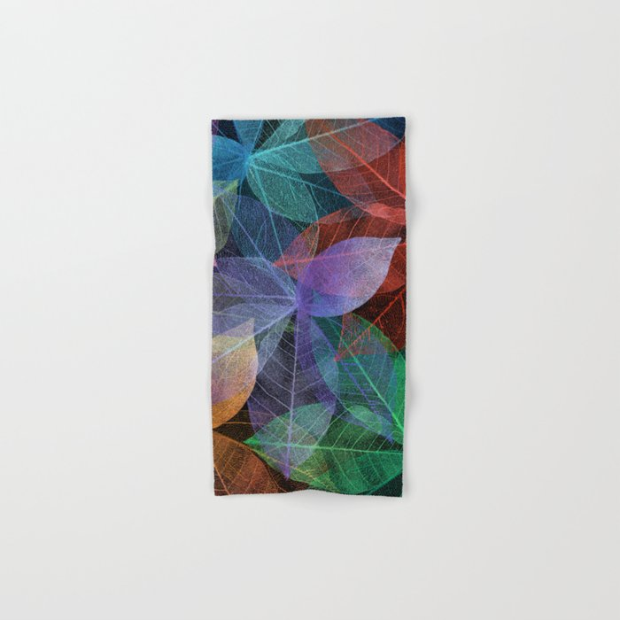 Colored Leaf Pattern 2 Hand & Bath Towel