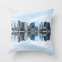 Boston reflection Throw Pillow