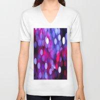 bokeh V-neck T-shirts featuring Bokeh by Alyson Cornman Photography