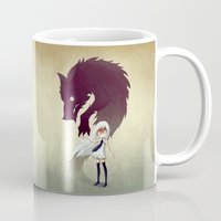 girl Mugs featuring Werewolf by Freeminds