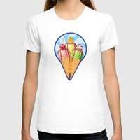 ice cream T-shirts featuring Ice cream by LaDa