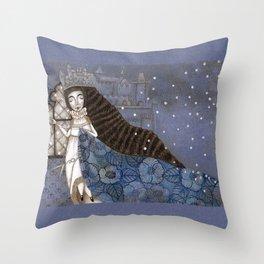 Schneewittchen-The Queen's Wish Throw Pillow