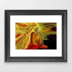 GURU IN MEDITATION Framed Art Print