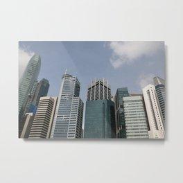 Skyline Singapur graphic illustration Metal Print