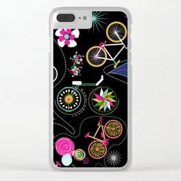 Cycledelic black Clear iPhone Case