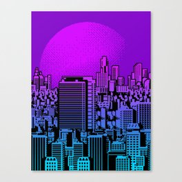 Cityscape collage 01A Canvas Print