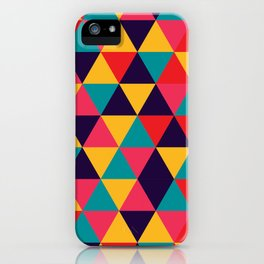Colorful Triangles (Bright Colors) iPhone Case