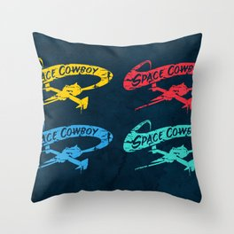Space Cowboy - Distressed 4 Up Throw Pillow