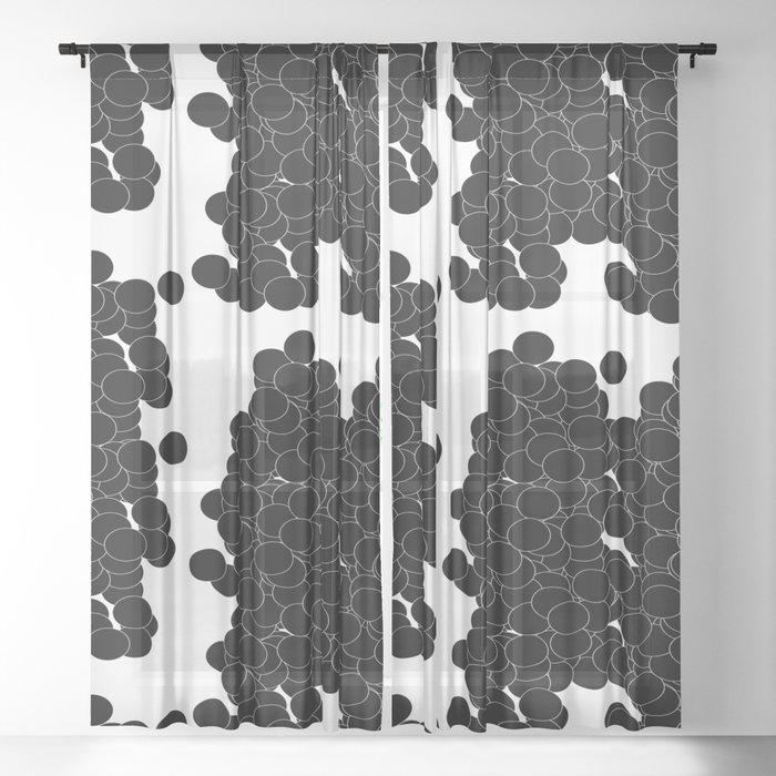 Circles | Black Minimalist Sheer Curtain