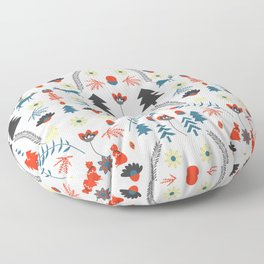 Folk winter pattern Floor Pillow
