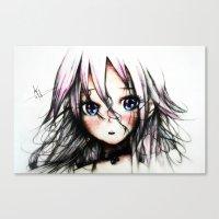 vocaloid Canvas Prints featuring A Vocaloid - IA by KhalilKhalidy
