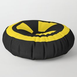 Yellow Radioactive Floor Pillow