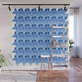 Tessellation with beach and sky Wall Mural