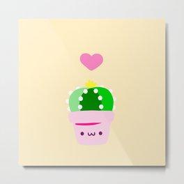 LOVE cactus Metal Print