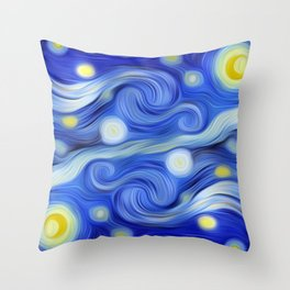 VanGoghED Stars Throw Pillow